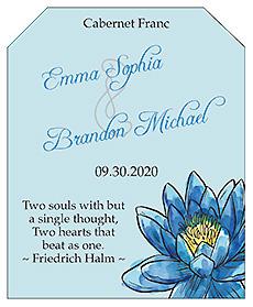 Floral Fairytale Flower Wine Wedding Label