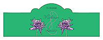 Floral Lovely Lavender Billbord Cigar Band Wedding Label