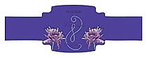 Floral Lovely Lavender Wedding Buckle Cigar Band Labels