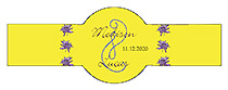 Floral Lovely Lavender Wedding Cigar Band Label
