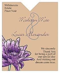 Floral Lovely Lavender Wine Wedding Label 3.25x4