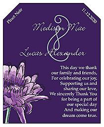 Floral Lovely Lavender Wine Wedding Label