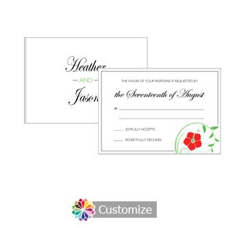Floral 5 x 3.5 RSVP Enclosure Card - Reception