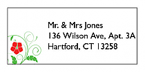 Flowers Address Wedding Labels