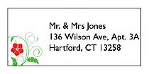 Flowers Address Wedding Labels