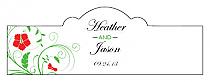 Flowers Billbord Cigar Band Wedding Labels