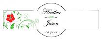 Flowers Cigar Band Wedding Labels