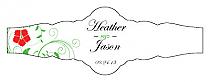 Flowers Fancy Cigar Band Wedding Labels