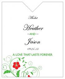Flowers Wine Wedding Label 3.25x4