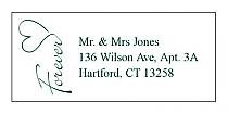 Forever Swirly Address Wedding Labels
