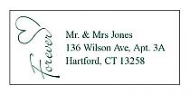 Forever Swirly Address Wedding Labels