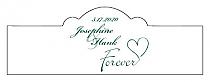 Forever Swirly Billbord Cigar Band Wedding Labels