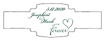 Forever Swirly Buckle Cigar Band Wedding Labels