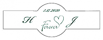 Forever Swirly Cigar Band Wedding Labels