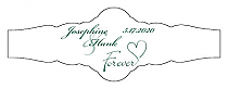 Forever Swirly Fancy Cigar Band Wedding Labels