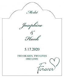 Forever Swirly Scalloped Vertical Big Rectangle Wedding Labels