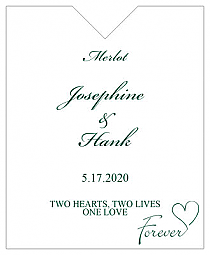 Forever Swirly Wine Wedding Label 3.25x4