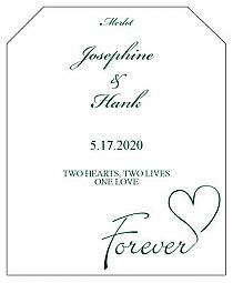 Forever Swirly Wine Wedding Label