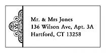 Glamorous Address Wedding Labels