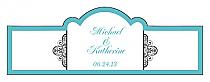 Glamorous Billbord Cigar Band Wedding Labels