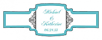 Glamorous Buckle Cigar Band Wedding Labels