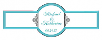 Glamorous Cigar Band Wedding Labels