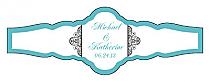 Glamorous Fancy Cigar Band Wedding Labels