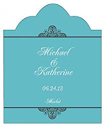 Glamorous Scalloped Vertical Big Rectangle Wedding Labels