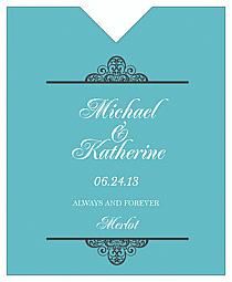 Glamorous Wine Wedding Label 3.25x4