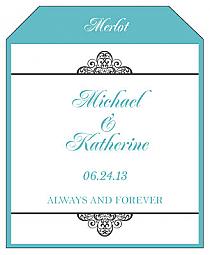 Glamorous Wine Wedding Label