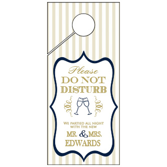 Personalized Golden Door Wedding Door Hanger 4x9