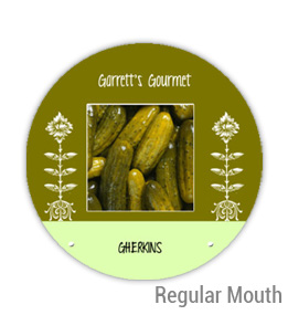 Garretts Gourmet Gherkins Regular Mouth Ball Jar Topper Insert