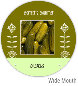 Garretts Gourmet Gherkins Wide Mouth Ball Jar Topper Insert