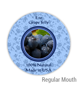 Grape Jelly Regular Mouth Ball Jar Topper Insert