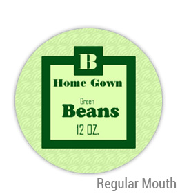 Green Beans Regular Mouth Ball Jar Topper Insert