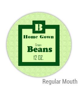 Green Beans Regular Mouth Ball Jar Topper Insert