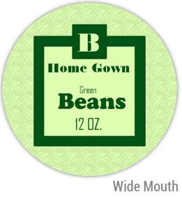 Green Beans Wide Mouth Ball Jar Topper Insert