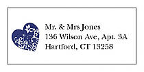 Hearts of Love Address Wedding Labels