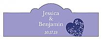 Hearts of Love Billbord Cigar Band Wedding Labels