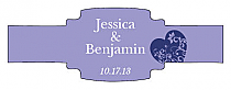 Hearts of Love Buckle Cigar Band Wedding Labels