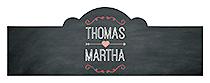 Hearts of Love Chalkboard Style Billbord Cigar Band Wedding Label