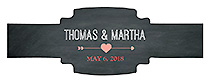 Hearts of Love Chalkboard Style Wedding Buckle Cigar Band Labels