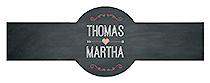 Hearts of Love Chalkboard Style Wedding Cigar Band Label