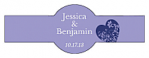 Hearts of Love Cigar Band Wedding Labels