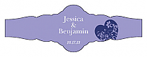 Hearts of Love Fancy Cigar Band Wedding Labels
