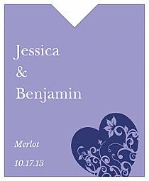 Hearts of Love Wine Wedding Label 3.25x4