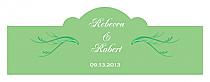 Honeymoon Waves Billbord Cigar Band Wedding Labels