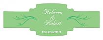 Honeymoon Waves Buckle Cigar Band Wedding Labels