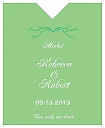 Honeymoon Waves Wine Wedding Label 3.25x4