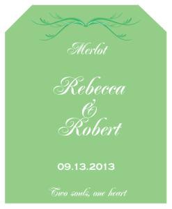 Honeymoon Waves Wine Wedding Label